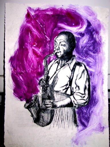 Jazz print series-Charlie Parker 1/10