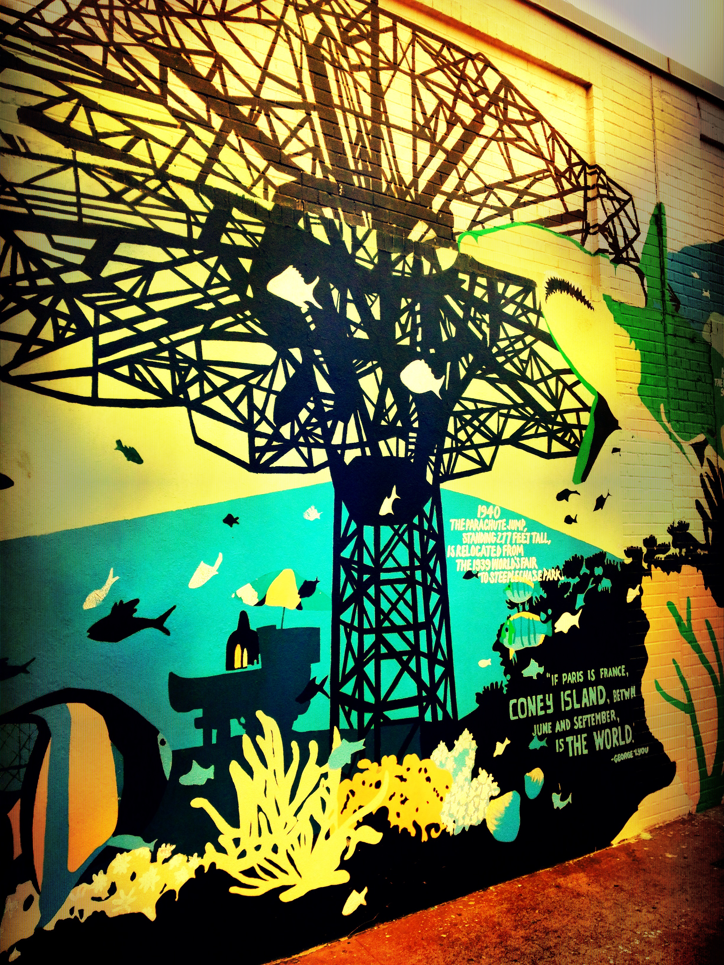 Coney island swells of the heart for Coney island mural