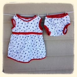 Sailoroo Dress & Diaper Cover
