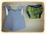 Petite Chevron Pinafore & coordinated Diaper Cover