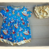 Outta This World Dress & Gold Lamé Diaper Cover