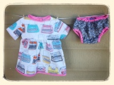 Just My Type Dress & Paper Clip Diaper Cover