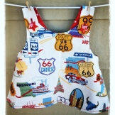 Road-Tripper Pinafore (Reversible)