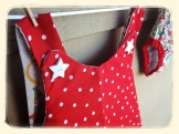 Road-Tripper Pinafore white star buttons