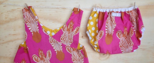 Swellyroo Pinafore and matching Diaper Cover